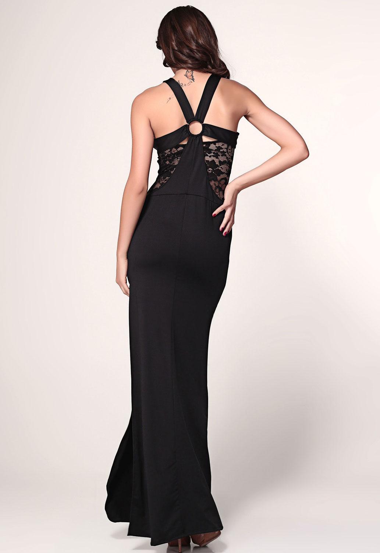Black Lace Cutout Slits