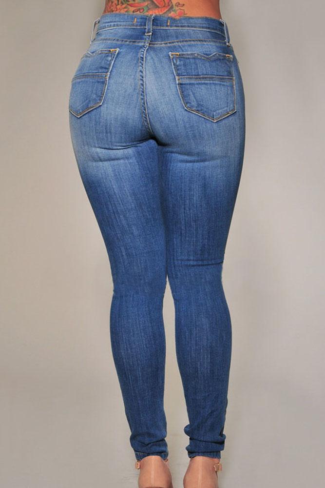 Denim Destroyed Skinny Jeans
