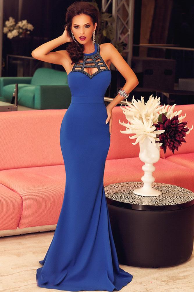 Royal Blue Elegant Prom Dress