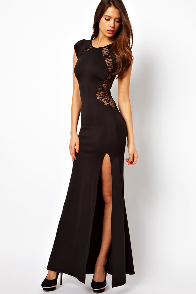 Maxi Dress with Lace Back