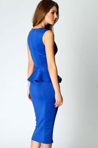 Abi Neck Detail Sleeveless in Blue