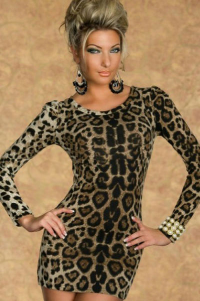 Brown Animal print