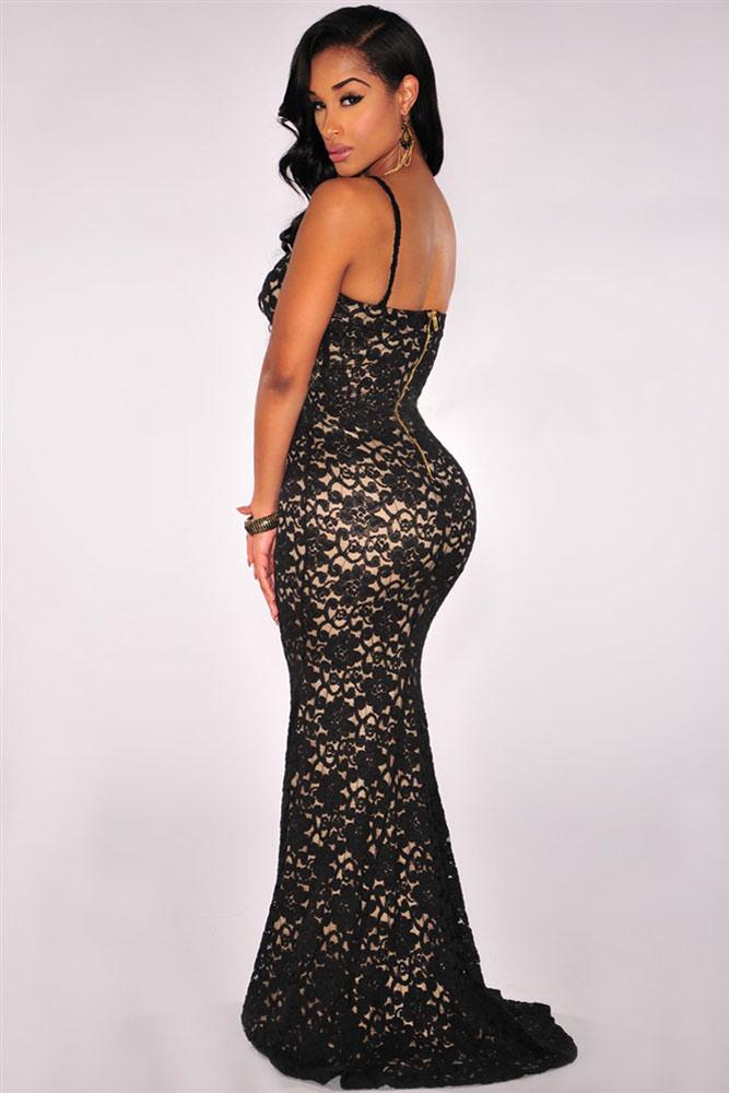 Black Mermaid Lace Dress