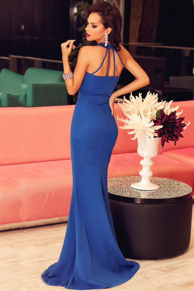 Royal Blue Elegant Prom Dress