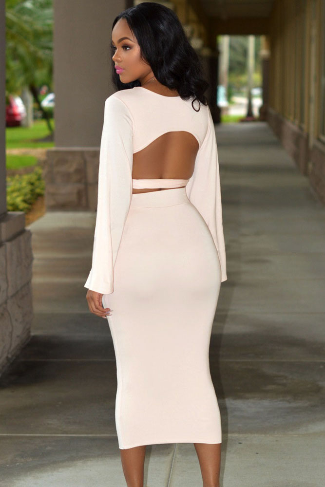 Soft Pink 2 Piece Skirt Set