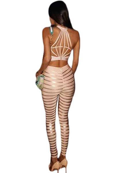 Crop top and cigarette pants Bandage Set