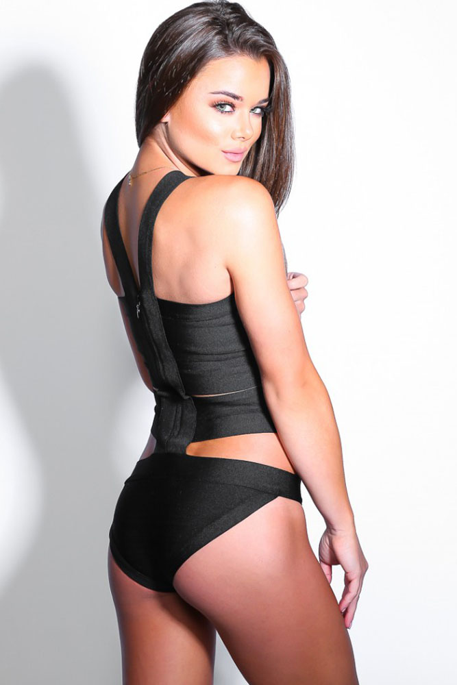 Black Bandage Bodysuit Swimwear