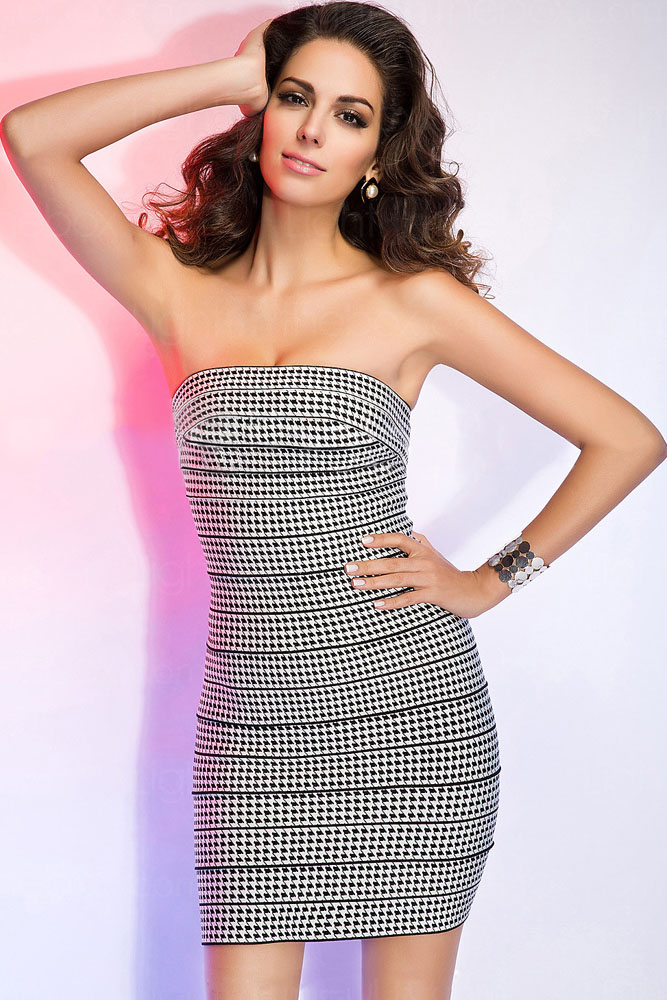 Strapless Sheath Bandage Dress