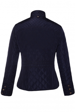 Navy Blue Cotton Quilted Jacket