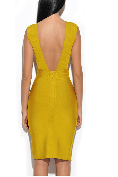 Gingerish Slit Side Bandage Dress