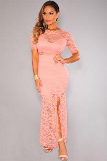 Pink Lace Slit