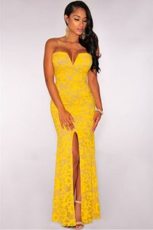 Yellow Plunging Dress