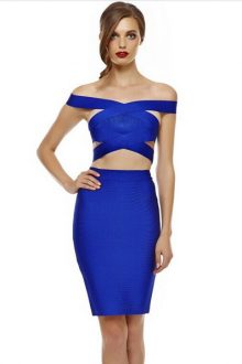 Royal Blue Bandage Skirt Set