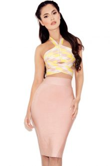 Lemon Cut Out Skirt Set
