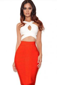 Cross Crop Skirt Set