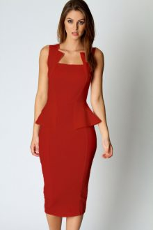 Abi Neck Detail Sleeveless in Red