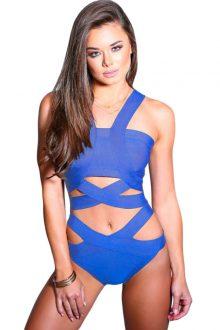 Blue Bandage Bodysuit
