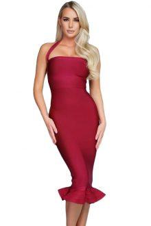 Halter Mermaid Bandage Dress