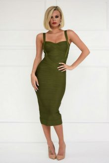 Green Bandage Midi Dress