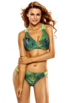 Tropical Leopard 2 Pcs Bikini Swimsuit