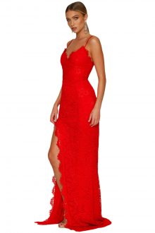 Red Yum Lacy Lace Bridal Wedding Gown