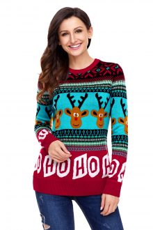 HO HO HO Red Christmas Sweater