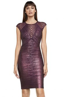 Purple foiled Bandage Dress