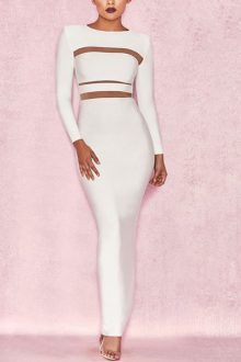Angelique White Bandage Gown