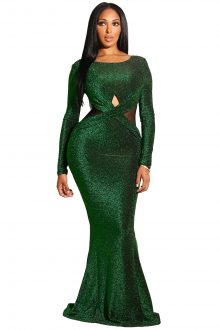 EMERALD CROSS WAIST GOWN
