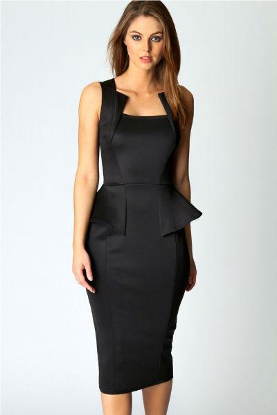 Abi Neck Detail Sleeveless in Black
