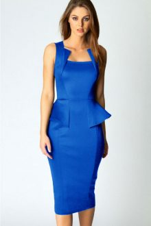 Abi Neck Detail Sleeveless in Blue