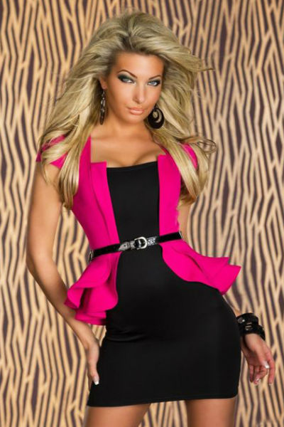 Fuschia Peplum Dress
