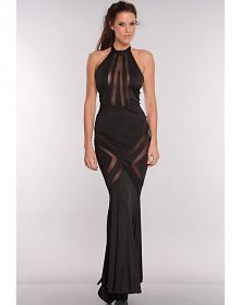 Glam Black Mesh Pattern Hourglass