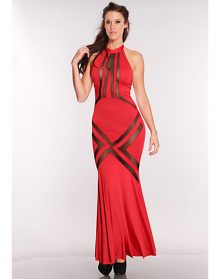 Glam Red Mesh Pattern Hourglass