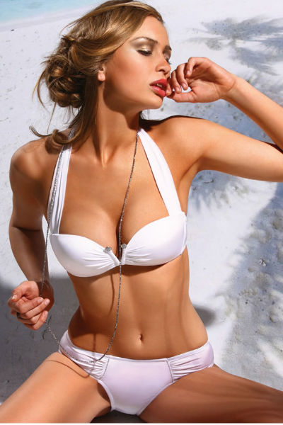 Solid White Bikini