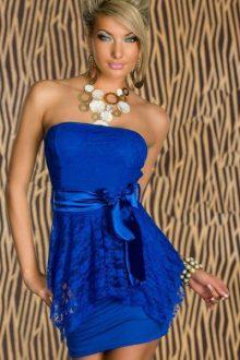 Strapeless mini dress