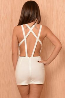 White Strappy Back