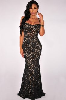 Black Mermaid Lace Dress