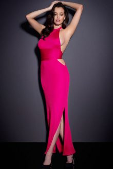 Pink Backless Jersey
