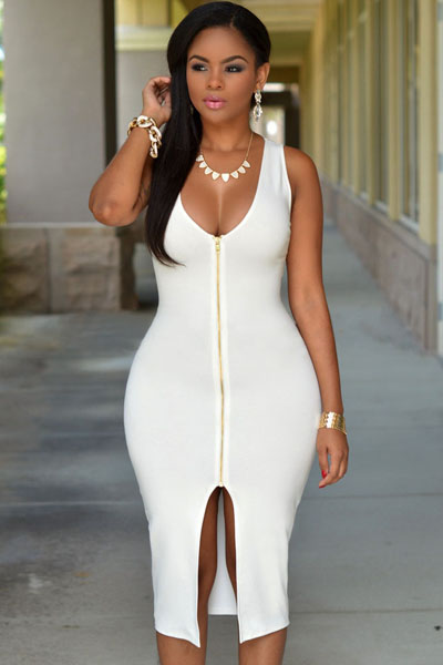 White Gold Zipper