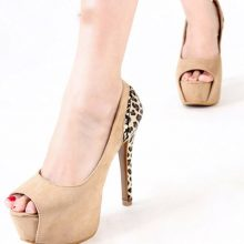 Patchwork Stiletto Suede