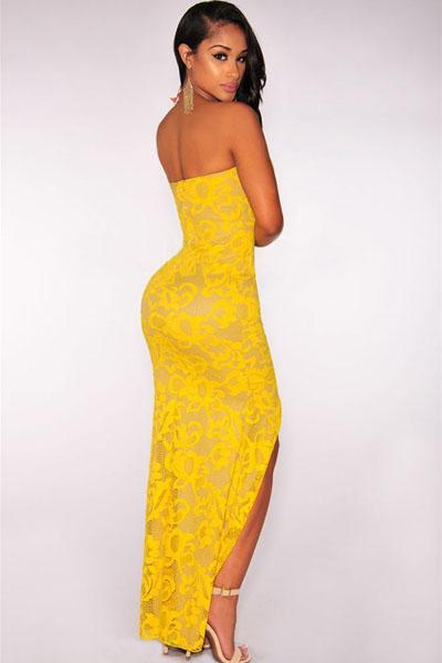 Yellow Plunging Dress
