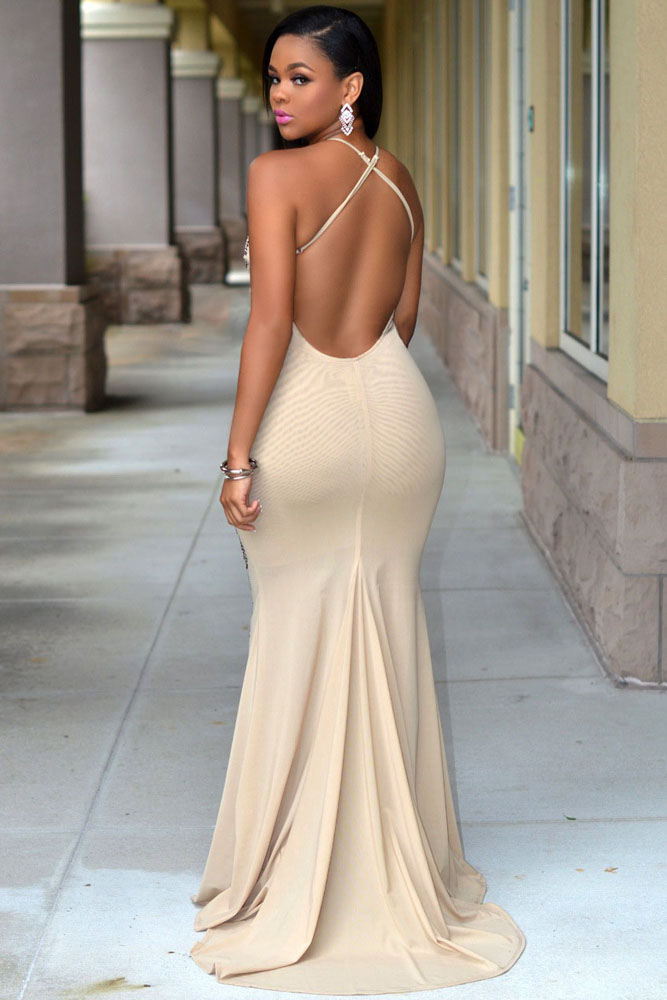 Nude Jeweled Front