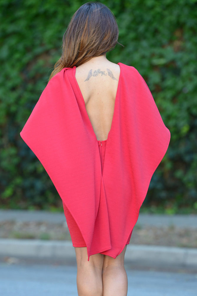 Red Winging Angle Cape