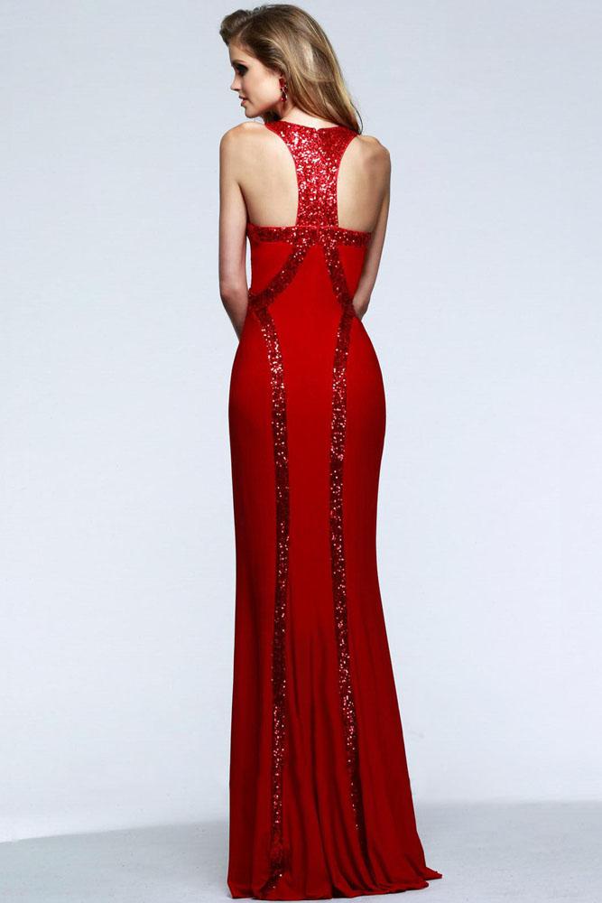 Sequin Trim Red