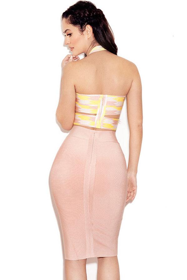 Lemon Cut Out Skirt Set