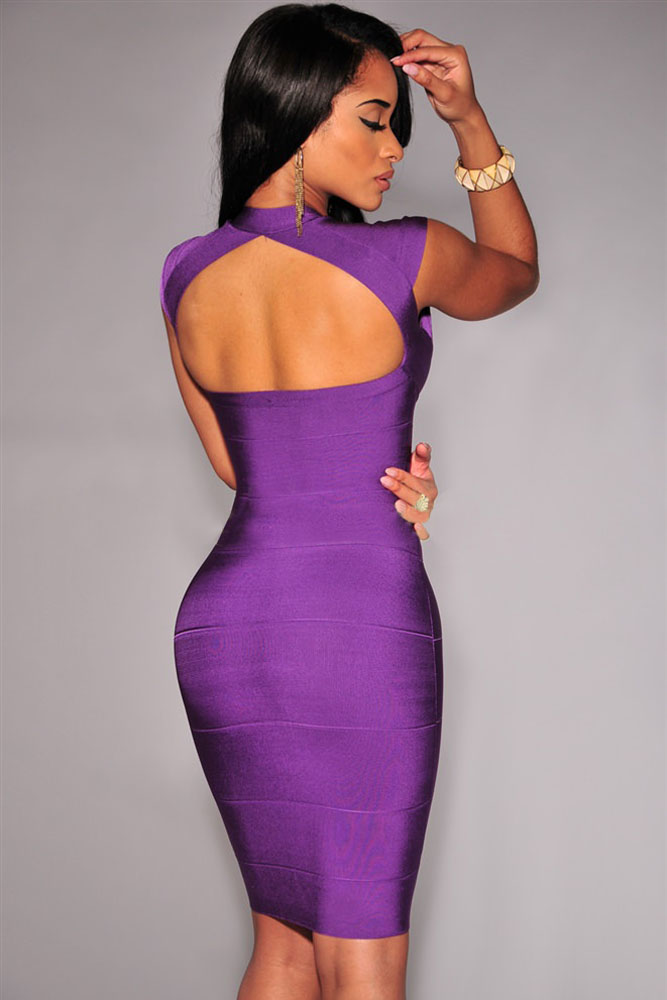 Sexy Purple Cocktail Dresses