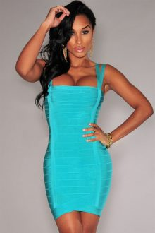 Turquoise Double Straps Arched