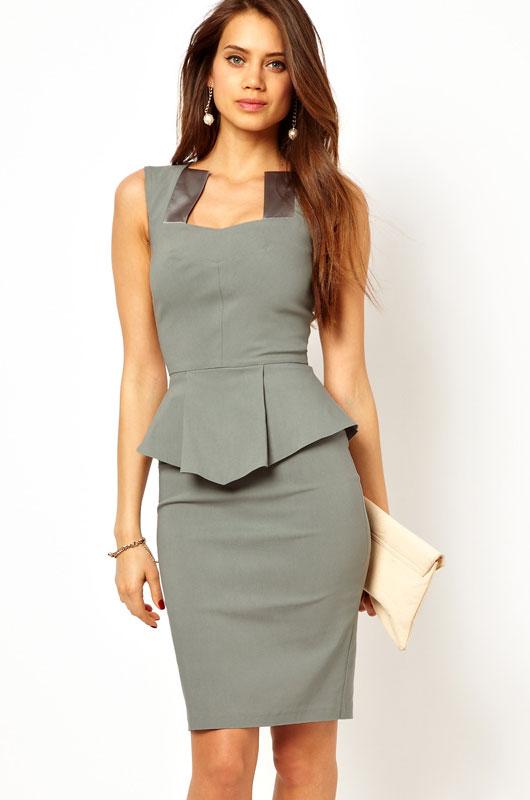 Elegant Peplum Dress Charming Wear