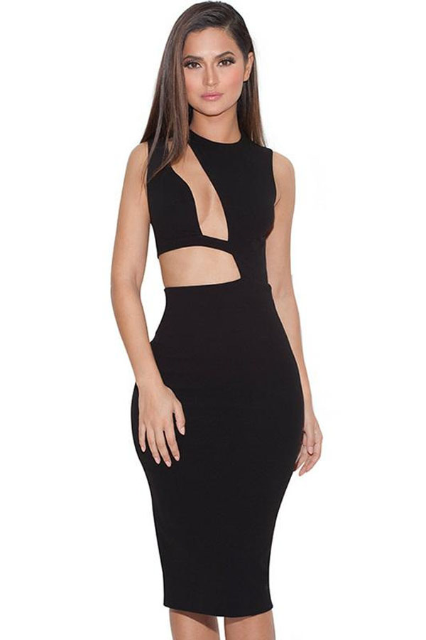 Sexy Black Bodycon Dress